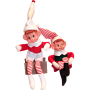 Vintage Christmas Bendable Elf