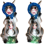 Cute Mama & Baby Kangaroo Porcelain Novelty Salt & Pepper Shakers