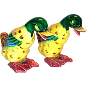 Pal Mar: Hand Painted Porcelain Duck Salt & Pepper Shakers