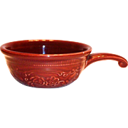 Genuine Oven Serve Brown Pottery Individual Single Handled Casserole