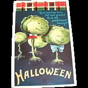 Ellen Clapsaddle Halloween Cabbage Heads Postcard