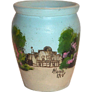 Vintage Alamo Small Hand Painted Pottery Vase - 1918