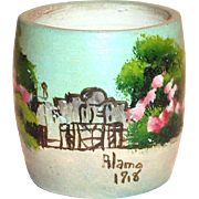 Vintage Hand Painted Alamo Pottery Small Vase - 1918