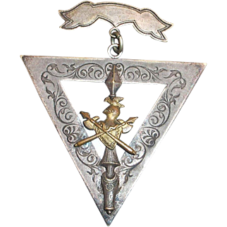 Knights Of Pythias: FCB 1874 Fraternal Badge Member Medal