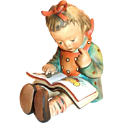 """Vintage Goebel Hummel """"Book Worm"""" Figurine - Marked"""