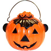 Tico Toys/Rosbro Plastic Jack-O-Lantern With Crown Candy Container