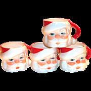 Vintage Hand Painted Miniature Santa Claus Mug