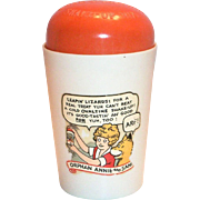 Vintage 1930's Ovaltine Little Orphan Annie Plastic Shake-Up Mug