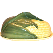 Shawnee Pottery: King Corn Covered Butter Dish