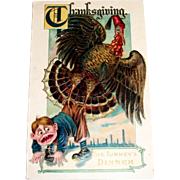 MAB: Thanksgiving, The Turkey's Dinner Postcard
