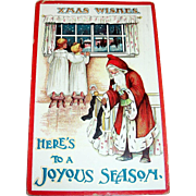 Xmas Wishes, Here's To A Joyous Season, Santa Claus Postcard -1911