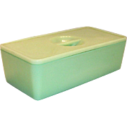Jeanette Glass Co.: Jadite Covered Refrigerator Dish
