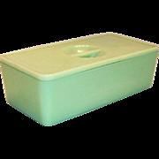 Jeanette Glass Co.: Jadite Covered Refrigerator Dish