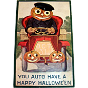 International Art Publishing: You Auto Have A Happy Hallowe'en Postcard - 1908