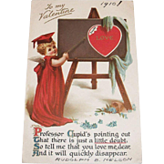 Vintage To My Valentine Postcard - 1910