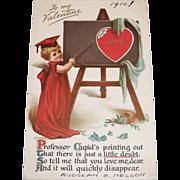 Vintage To My Valentine Postcard - 1910