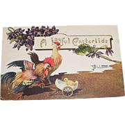 A Joyful Eastertide Postcard signed B. Bicletton