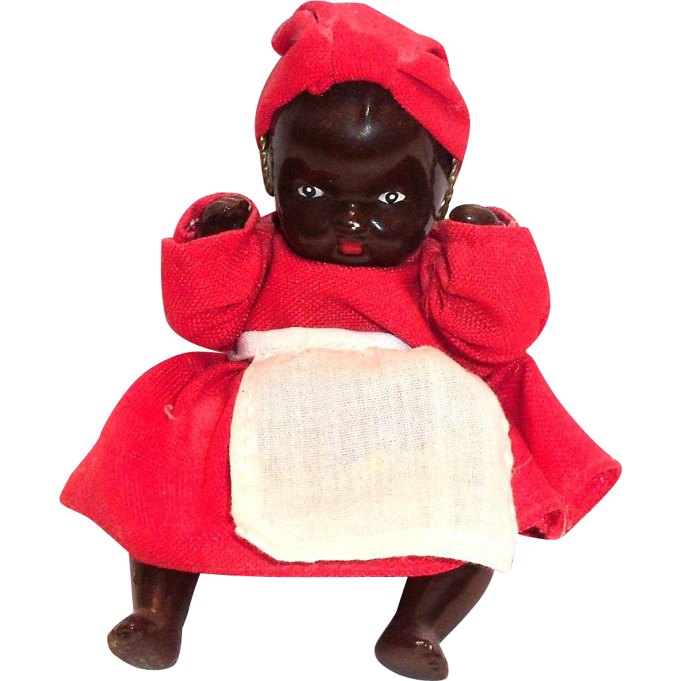 Black Americana Small Porcelain Mammy Doll From