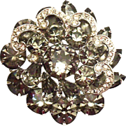 Weiss Smoky Colored Rhinestone Pin