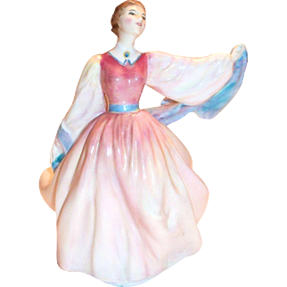 "Royal Doulton ""Gay Morning"" Lovely Bone China Figurine"