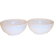 "Anchor Hocking ""Fire King"" Round White Glass Chili Bowl"
