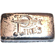 Pike's Silver Plate Metal Case With Sharpening Stone