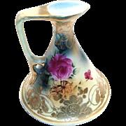 Vintage Hand Painted Floral Design Porcelain Ewer
