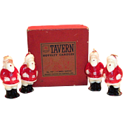 (4) Tavern Santa Claus Novelty Candles In Original Tavern Box