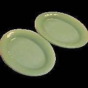 "Fire King Jadite Glass 11 1/2""L Restaurant Ware Platter"