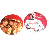 1990's Coca Cola Round Advertising Purse Size Mirror