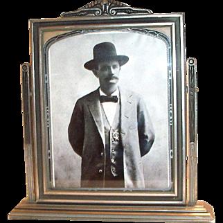 Vintage Wooden Swivel Picture Frame