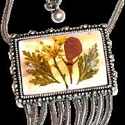 Pressed Flower Pendant Necklace