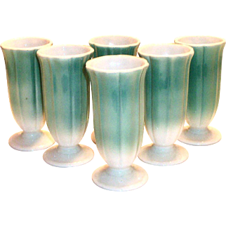 Syracuse China Restaurant Ware Stemmed Tulip Style Design Juice Glass