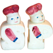 Chef P & S Shaped Porcelain Salt & Pepper Shakers