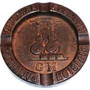 Vintage GM Danville Central Foundry Division Cast Iron Ashtray