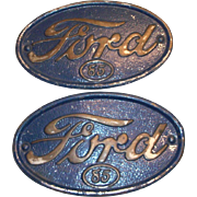 Ford 85 1934 Pickup Blue Metal Hood Side Emblem