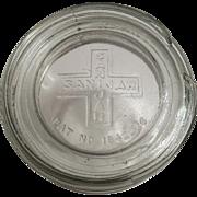Vintage Sani Jar with Glass Lid