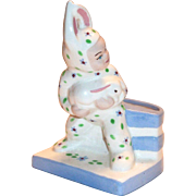 California Pottery: Block: Boy In Rabbit Costume Planter