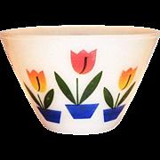 "Fire King Tulip 6 1/2""Rd Glass Bowl"