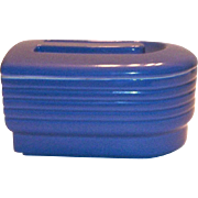 Hall China Co. Blue Covered Stone Ware Refrigerator Dish