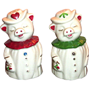 Shawnee Winnie Rose & Heart Salt & Pepper Shakers Set
