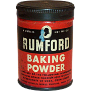 Advertising: Rumford 4 Oz Baking Powder Tin