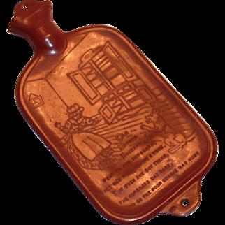 Vintage Child's Nursery Rhyme Rubber Hot Water Bottle