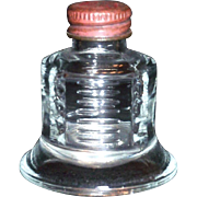 B B Bell Shaped Glass Ink Bottle