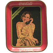 "Coca Cola 1930 ""Meet Me At The Soda Fountain"" Metal Serving Tray"