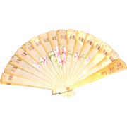 Vintage Miniature Celluloid Fan