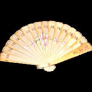 Vintage Miniature Celluloid Fan