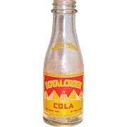 Miniature Royal Crown Soda Bottle Dated 1936