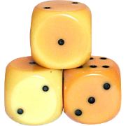 Set Of 3 Bakelite Larger Size Dice