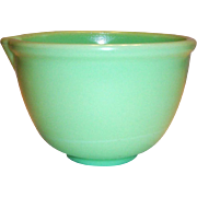 Vintage Jadite Colored Batter Mixer Bowl